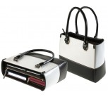 Black and White Leather Handbag