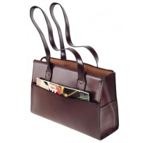 Sturdy Burgundy Leather Handbag