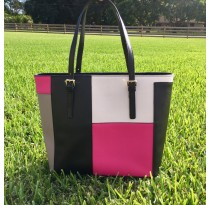 Multi-Color Tote Bag (Pink)
