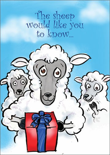 The sheep would like you to know...