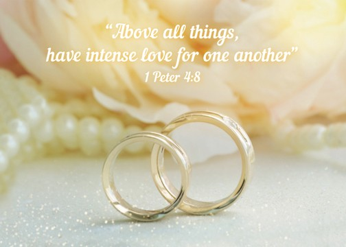 """Above all things, have intense love for one another"" 1 Peter 4:8"