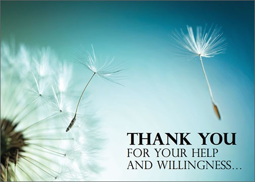 THANK YOU for your help and willingness…