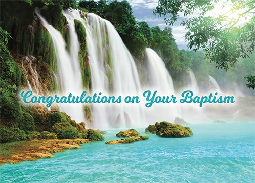 Congratulations on your baptism