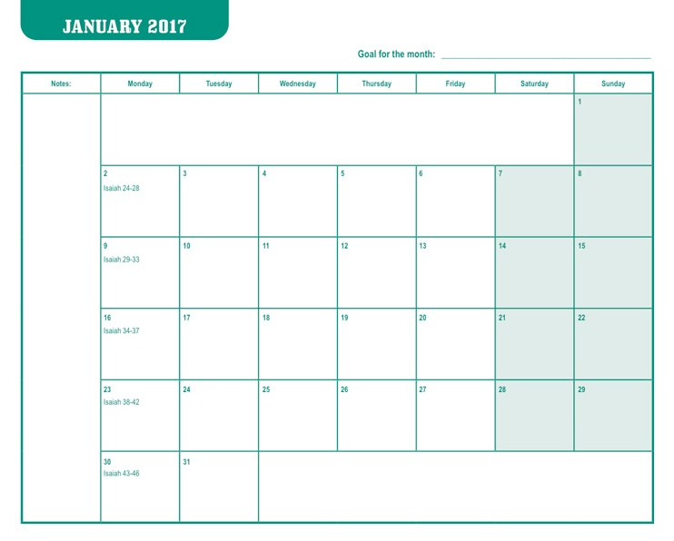 2017 Pocket Appointment Calendar | MJC