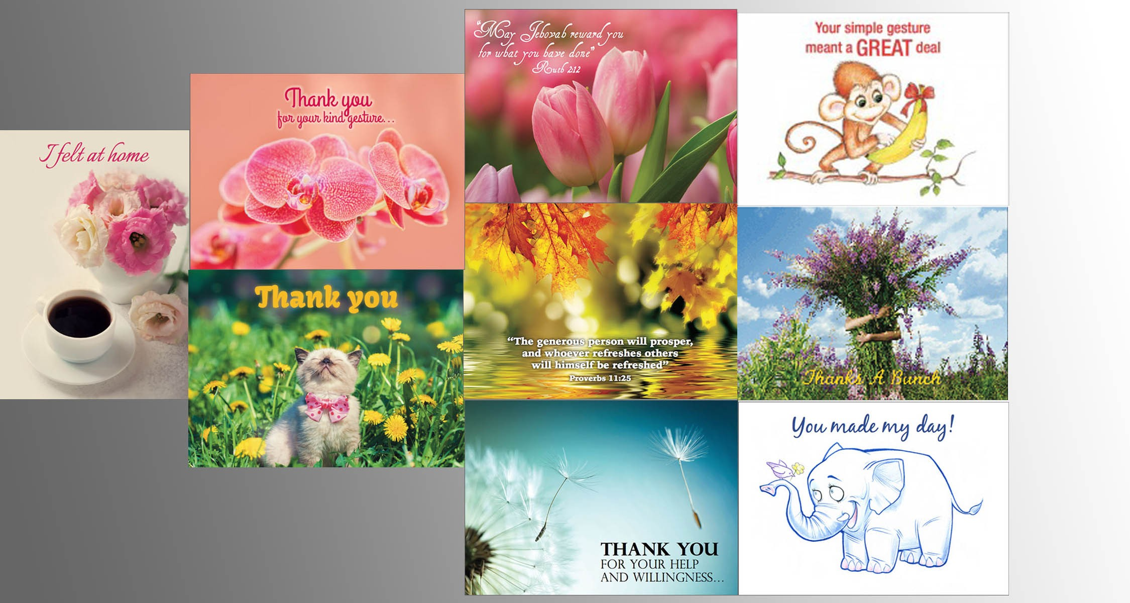 Thank You Greeting Cards (Set of 10)