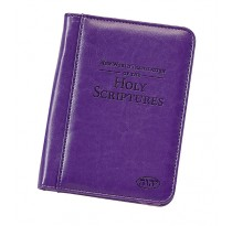 Regular Size Bonded Leather Bible Cover (PURPLE)