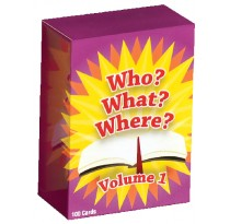 Who What Where Volume 1 Bible Trivia Game (English)