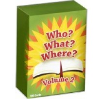 Who What Where Volume 2 Bible Trivia Game