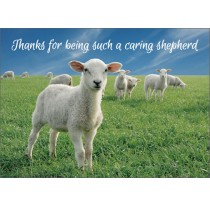 Thanks for being such a caring Shepherd