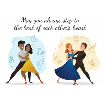 May you always step to the beat of each other's heart