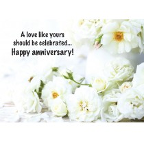 A love like yours should be celebrated...Happy anniversary!