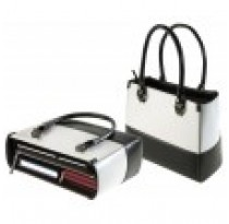 Black & White Leather Handbag (slightly scratched)