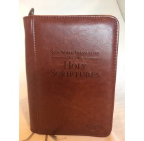 Regular Size Bonded Leather Bible Cover (BROWN)
