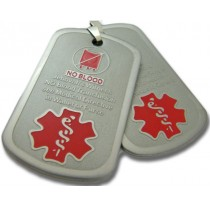 No Blood Dog Tag