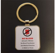 NO BLOOD Key Chain